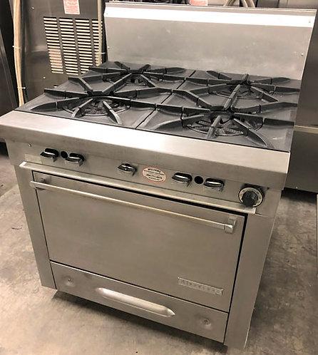 Garland  4 burner range - with oven below