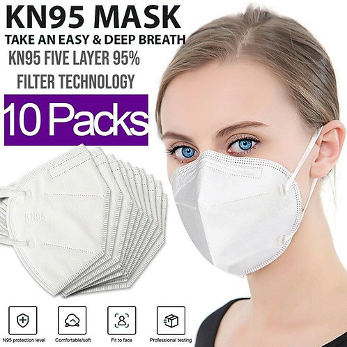 Face Masks - KN95 10 - 20 - 50 -100-1000-10000 - 24000 PACKS