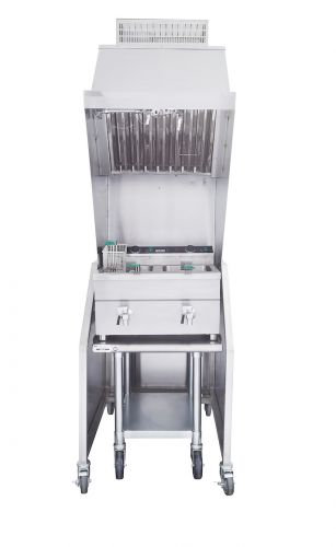 Ventless 2ft Package 30lb. Induction Fryer, Table