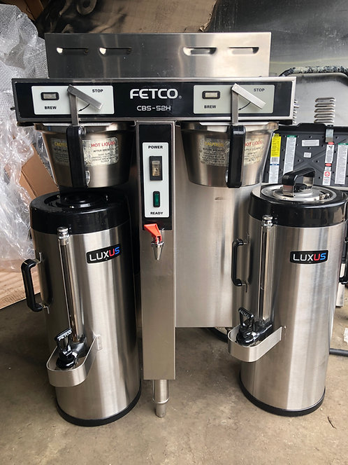 1.5 GALLON BREWER FETCO CBS-52H w/ Thermal Dispensers