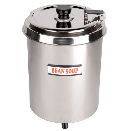 6 Qt. Round Stainless Steel Countertop Food Warmer -