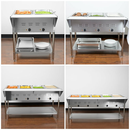 HOT FOOD TABLES - 2 - 3 - 4 - 5 PANS - SEE VIDEOS