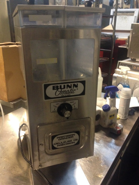Bunn two compartment coffee  bean grinder