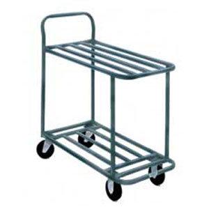 "Win-Holt 110 Two Shelf Steel Stocking Cart - 41"" x 18"""
