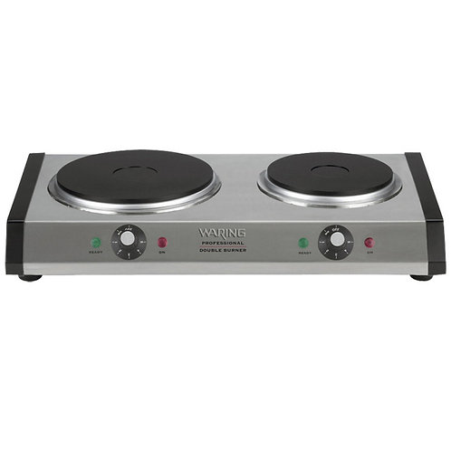 Double Burner Solid Top Countertop Range - Heavy Duty 1800 Watts NSF