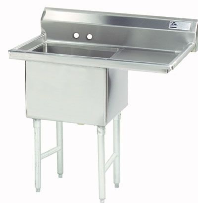 "18"" SINGLE COMPARTMENT PREP SINK  Right hand drainboard -with approval sticker"