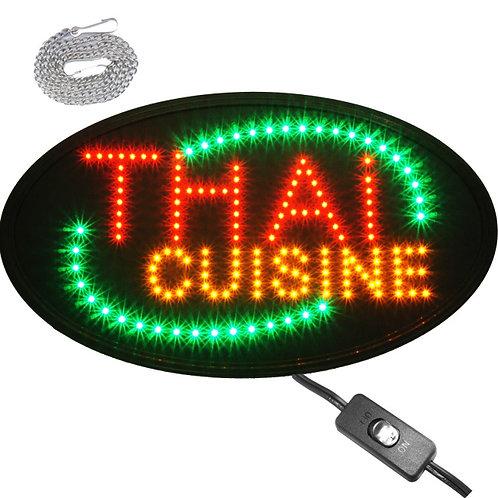Large-Oval-23x14-Thai-Cuisine-LED-