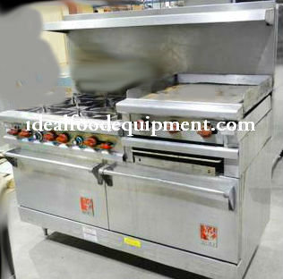 """Wolf combo Gas range - 2 ovens - 6 burners - 24"""" flat top grill with broiler"""