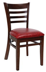 HARDWOOD CHAIR  -DARK WALNUT  - UPHOLSTERED - SIX COLORS AVAILABLE
