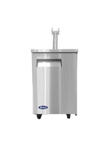 23'' keg cooler S/S w/ dual faucet