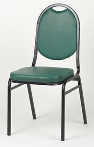 STACKING CHAIR -ROUND BACK - 4 COLOR AVAILABLE