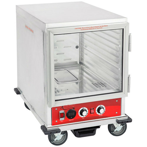 Half Size Insulated Heated Holding / Proofing Cabinet with Clear Door - 120V