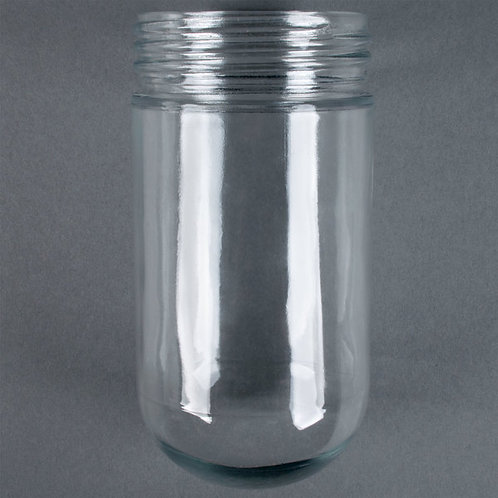Glass globe for hood light bulb