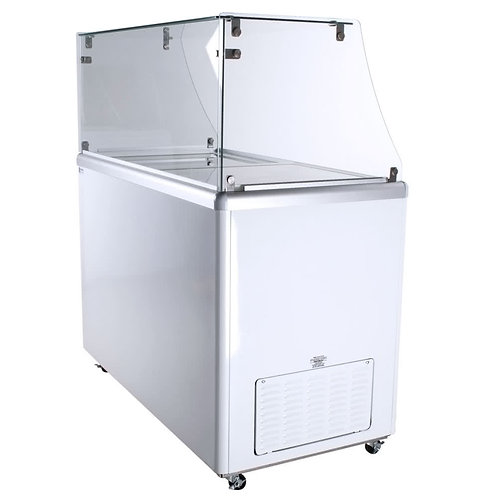 8 TUB ICE CREAM DIPPING CABINET - STRAIGHT GLASS