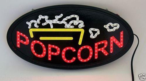 LED SIGN POPCORN  DECOR RETRO ROOM DECOR 19 X10 IN.
