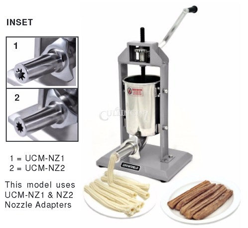 STAINLESS STEEL CHURRO MAKERS AND FILLERS - SEVERAL TYPES