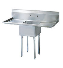 """18"""" Single Compartment Prep Sink with two drainboards - with approval sticker"""