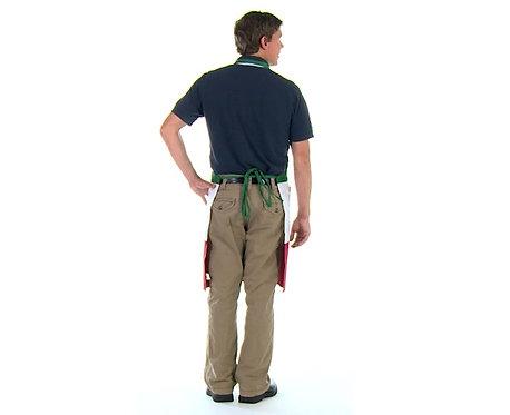 Italian 3 panel full length apron with pockets