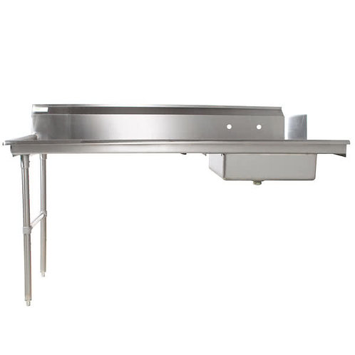 SOILED DISH TABLE  STAINLESS STEEL  - RIGHT OR LEFT HAND  6 SIZES TO CHOOSE FROM
