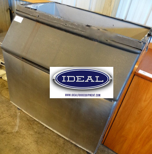 Stainless Steel Commercial Ice Bin w/ Poly Flap Lid. 48 x 34 x 51