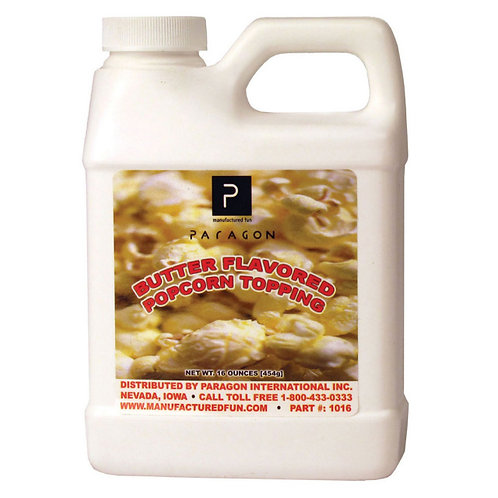 Paragon 1018 Supur-Kist Butter Flavored Popcorn Topping 6 - 16 oz. Containers /