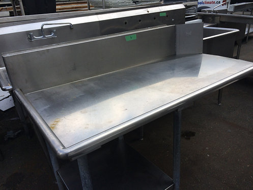 5' clean dishtabling - left side 5' clean dishtabling
