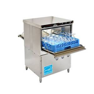 Pass thru low temp glasswasher