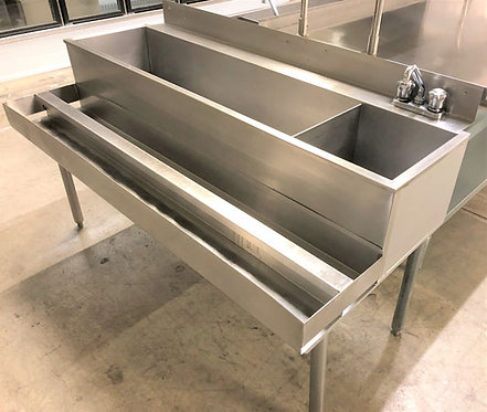 """60"""" Cocktail ice Bin and Sink"""