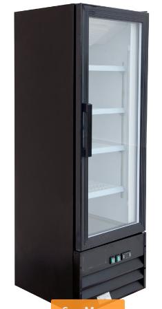 "21"" Swing Glass Door Black Merchandiser Refrigerator - Available in  black or wh"