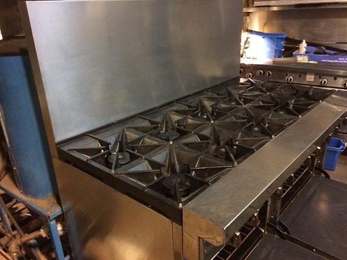 Southbend 10 burner gas range - 2 ovens below
