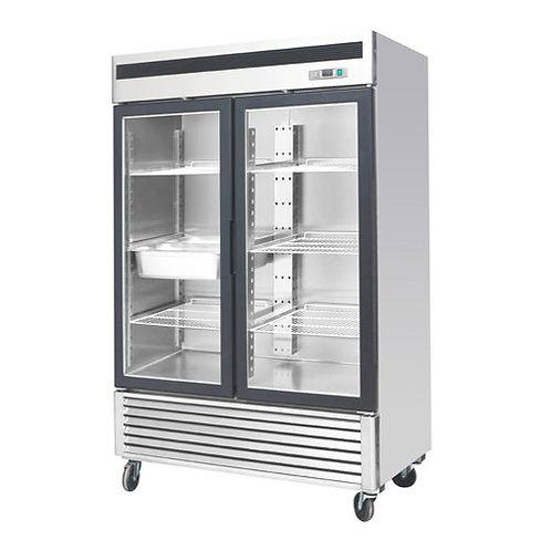 54″ 2 Door Glass Reach in  Display Freezer