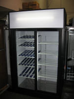 2 DOOR UPRIGHT QBD GLASS DISPLAY COOLER