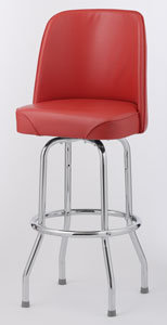 BAR STOOL  - 6 COLOR CHOICE  - BUCKET SEAT SINGLE RING