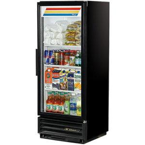 "True GDM-12F Black 25"" Glass Door Freezer - 12 Cu. Ft."