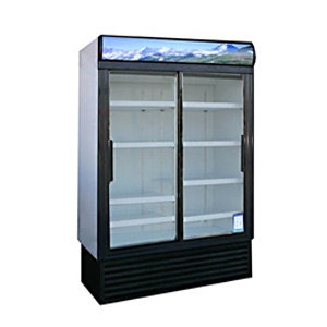 2 DOOR GLASS FRONT DISPLAY REFRIGERATOR -