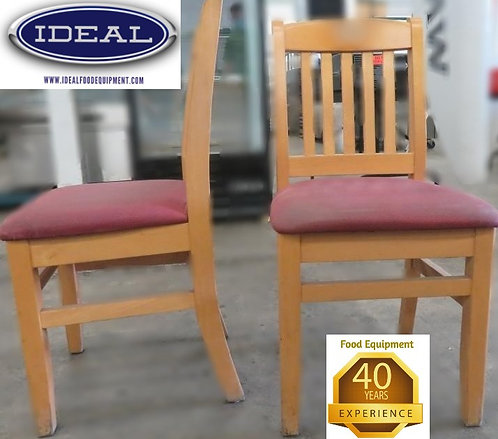 18 wood framed chairs - 1 lot - 1 price