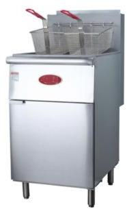 70-100 lb. Stainless Steel Tube Floor Fryer - 150,000 BTU