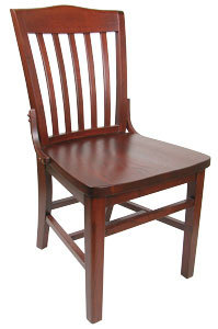 WOODEN SCHOOL HOUSE CHAIR
