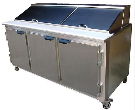 7' Refrigerated Prep Table - made in USA