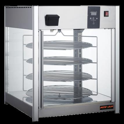 Hot food - pizza revolving display case