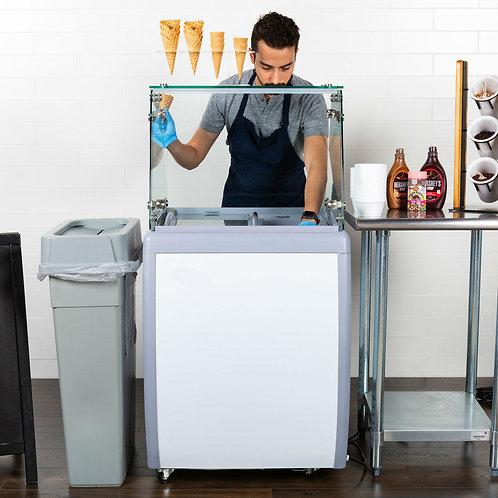 4 tube ice cream dipping cabinet