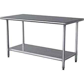 """STAINLESS STEEL TABLES - SEE ALL 23 SIZES HERE -  ASST. DEPTHS 18"""" 24"""" & 30"""""""