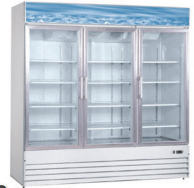 3 glass door freezer -