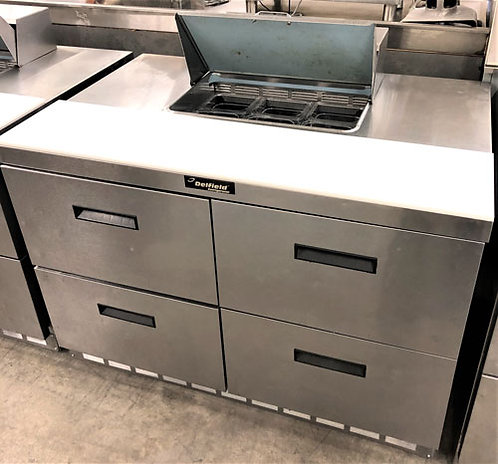 Delfield 4 drawer refrigerated prep table