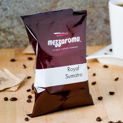 Ellis Mezzaroma Royal Sumatra Ground Coffee - (24) 2.5 oz. Packets / Case