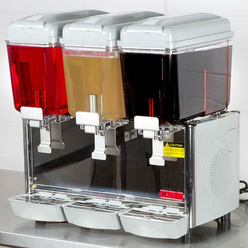 Triple 3 Gallon Bowl Refrigerated Beverage Dispenser