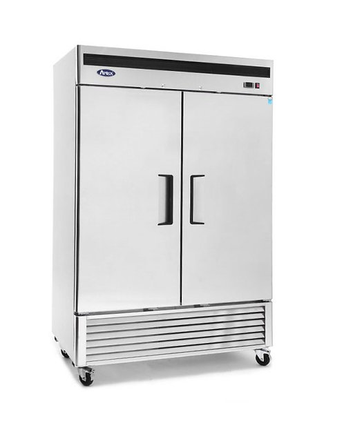 2 solid door upright freezer - BOTTOM MOUNT