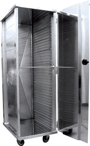 ENCLOSED TRANSPORTATION BAKERY CART - 40 SLIDES