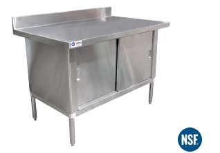 "30"" X 48""  Stainless steel work table cabinet - without  backsplash"