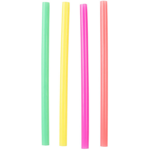 """8 1/2"""" Colossal Unwrapped Neon Straws - 4000 / Case"""